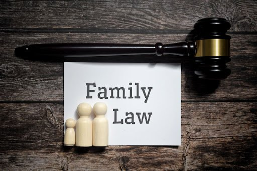 family law banner with a gavel